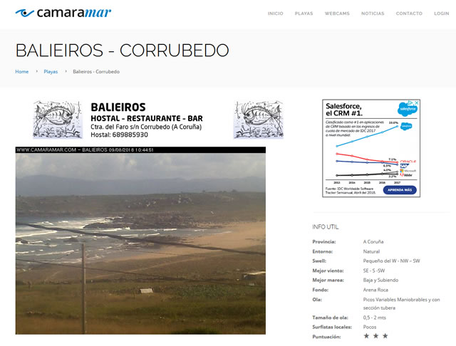 Camaramar Webcams surfing